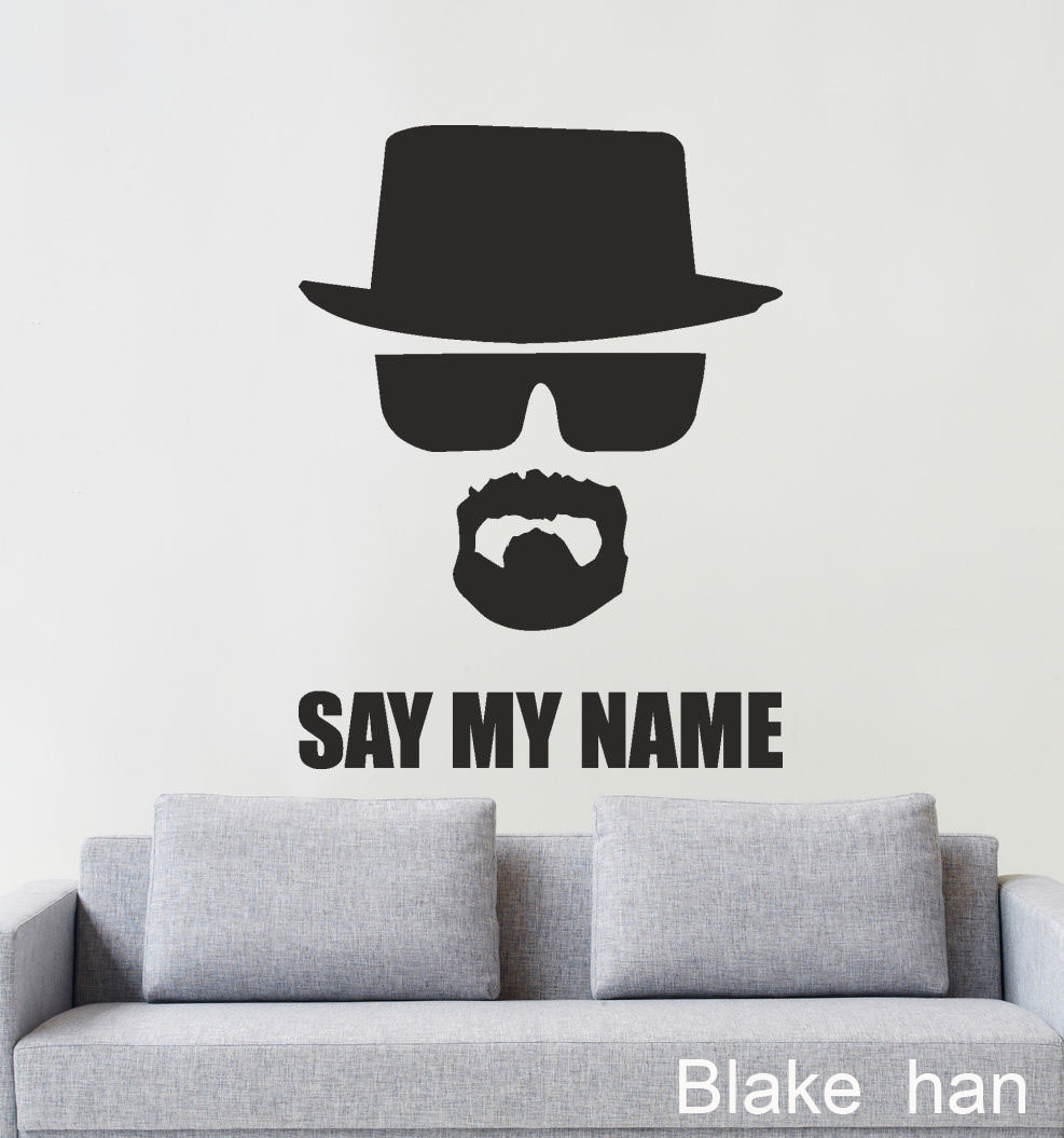 Free shipping home decor wall art dcals breaking bad heisenberg free shipping home decor wall art dcals breaking bad heisenberg say my name wall sticker in stickers from consumer electronics on aliexpress alibaba amipublicfo Choice Image