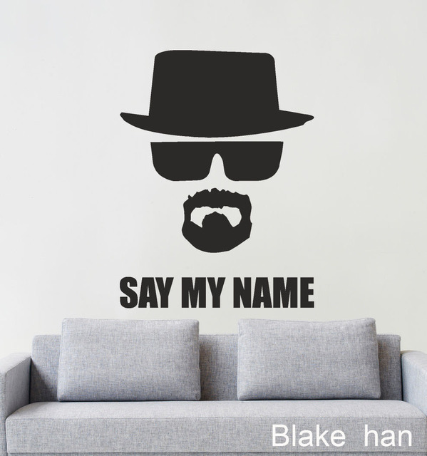 Free Shipping Home Decor Wall Art Dcals Breaking Bad Heisenberg Say