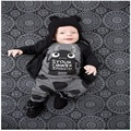 New 2016 baby boy clothes infant clothes cotton little monsters long sleeve t-shirt + pants 2pcs suit baby girl clothing sets