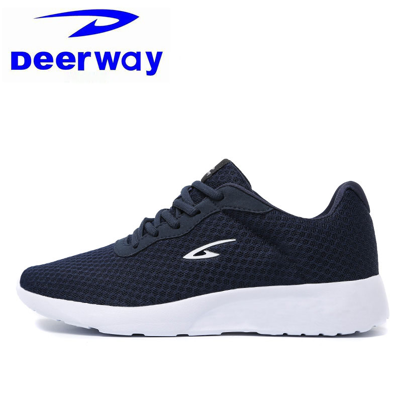 Deerway Blue Running Shoes For Women Super Light Mesh Breathable Female Sneakers Sport Travel Shoes Free Shipping Size 35-40 EUR adidas women s shoes running shoes training shoes sneakers free shipping