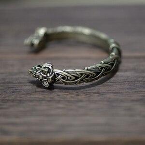 Image 5 - Langhong 10pcs norse viking pulseira e pulseira cabeça de lobo para homem e mulher talismã jóias