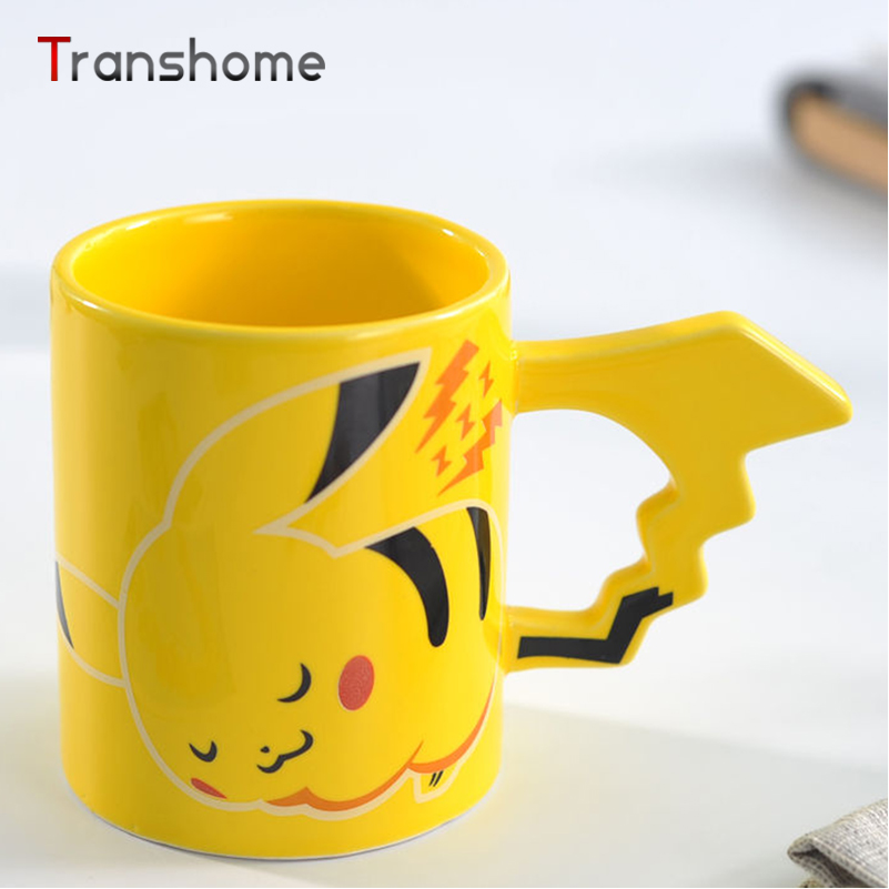 Novelty Pokemon Pikachu Porcelana Coffee Mug Lovely Cartoon Milk Tea Cup New Year Gift