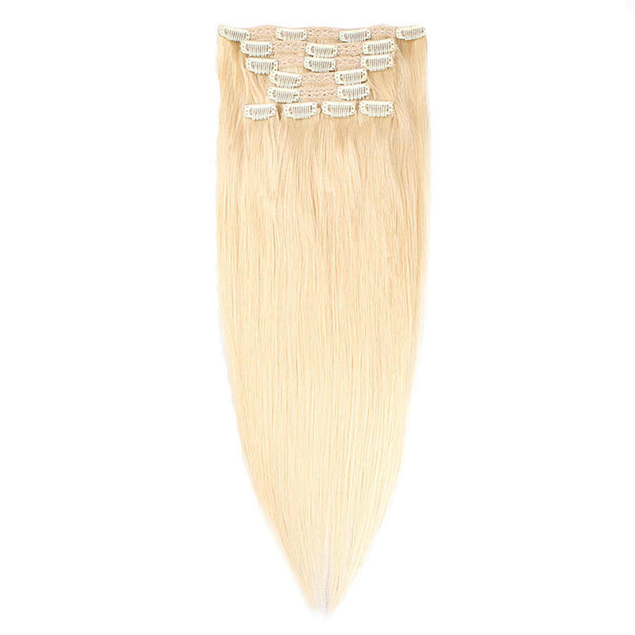 Dollface Straight Clip in Human Hair Extensions Braziliaanse Remy Haar Clips ins 100g/9pcs 1 # # 1B #2 #4 #27 #613