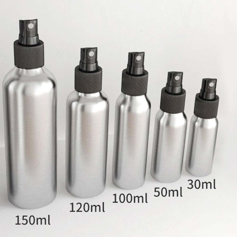 30-150ml Aluminium Spray Atomiser Bottle Refillable Cosmetic Liquid Container