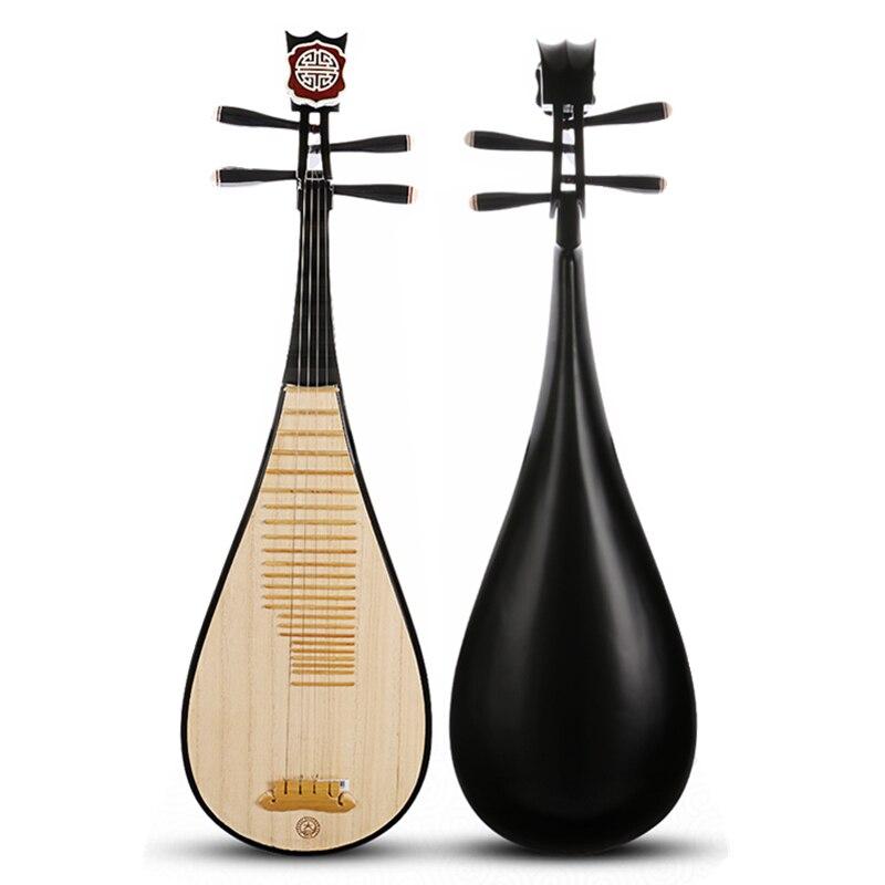 Chinois luth national Pipa bois dur Pi pa Lancao paulownia bois panneau supérieur cithare instruments de musique chine style ukulélé guitare