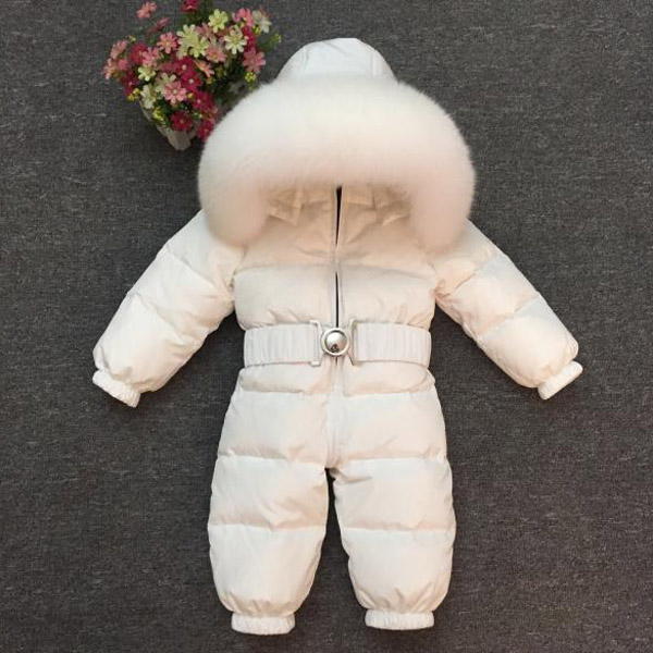 Baby jumpsuit Boys and girls have thick down coats Children s ski wear