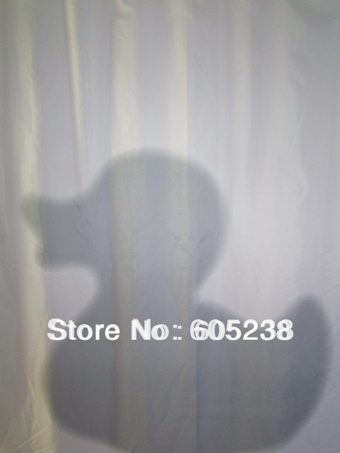 Free Shipping Shadow of the Duck Shower Curtain(Who is in the bathtub ?Big Duck ?)
