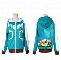 Boku No Hero Academia Izuku Midoriya Hoodie Zip Coat Sweatshirt Anime My Hero Academia Cosplay Costume