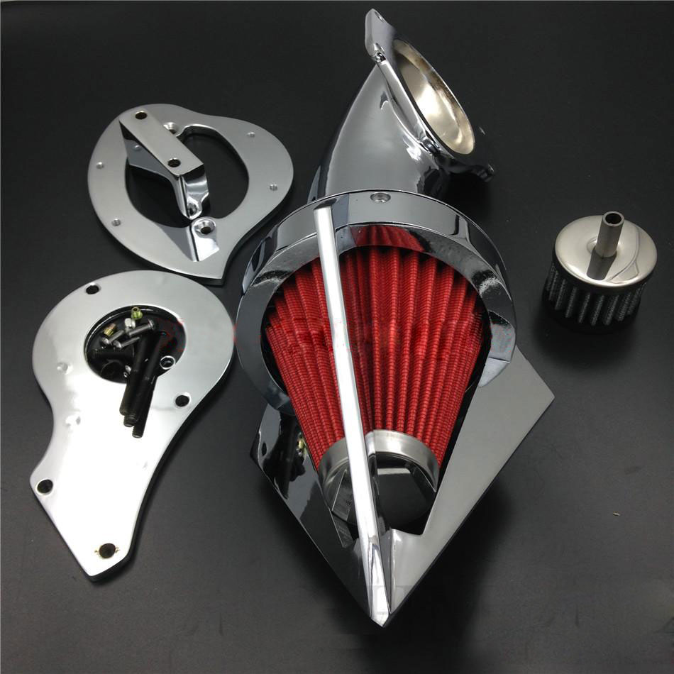For 1999&up Honda Shadow 600 VLX 600 Motorcycle Air Cleaner Kit Intake Filter 1999 2000 2001 2002 2003 2004 Later