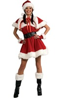 Velvet Sexy Miss Santa Outfit Christmas Costume 3SFC133 Free Shipping Christmas Costumes For Women Cosplay