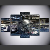 HD Printed Painting Dallas Cowboys Football Helmet Painting Room Decoration Poster Canvas Free Shipping Framed Art