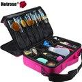 Hotrose Mujeres Del Organizador Del Maquillaje Profesional Kit de Cosméticos de Color Rosa Caja de Almacenamiento de Gran Capacidad Bolsa de Desmontaje Libre Maletas de Maquillaje