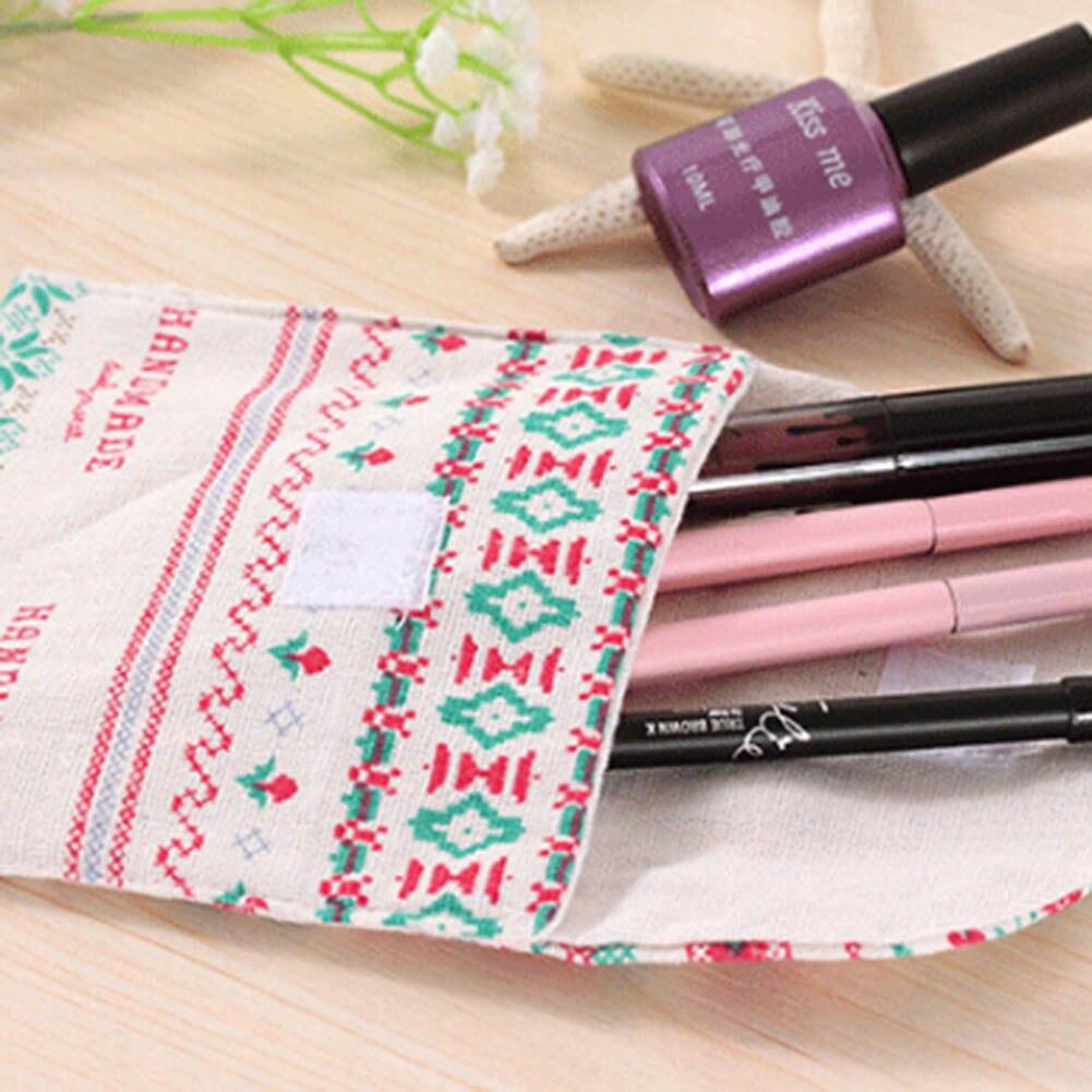 Travel Cute Fabric Napkins Bags Wave Point Linen Napkin Package Toilet Bag Fashion Comestic Case