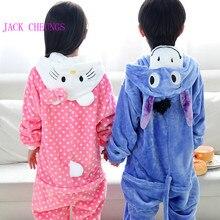 Kigurumi cosplay Panda Children pajamas set Stitch giraffe kitty Animal  pikachu batman onesies Pajama penguin jumpsuit