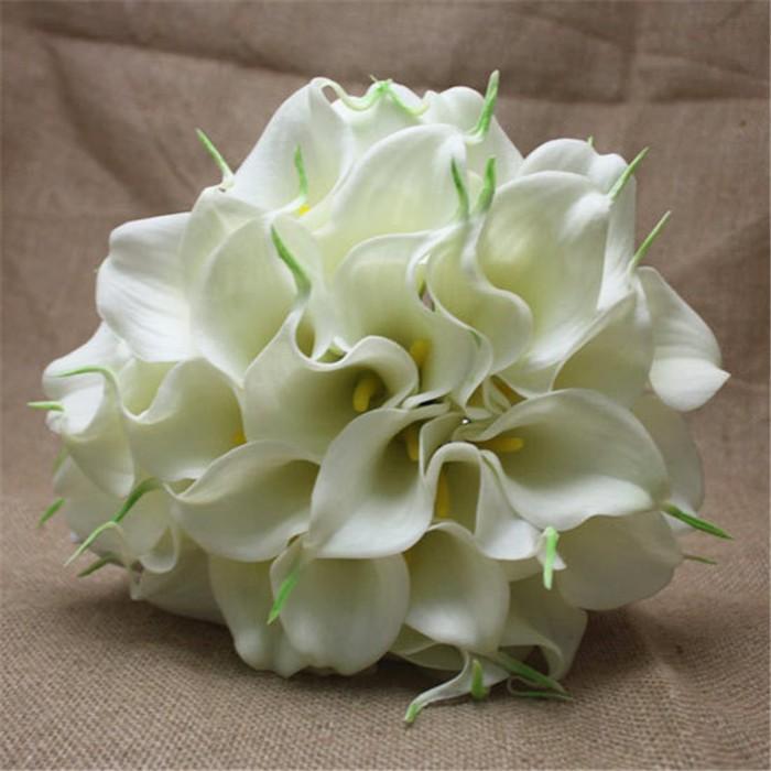 New arrival Romantic Wedding Bride \'s Bouquet Callas Bride Bouquet Bride Holding Flowers Wedding Bouquet (2)