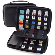 Large Capacity Electronic Gadgets Accessories Travel Storage Bag For HDD U Disk SD Card USB Data