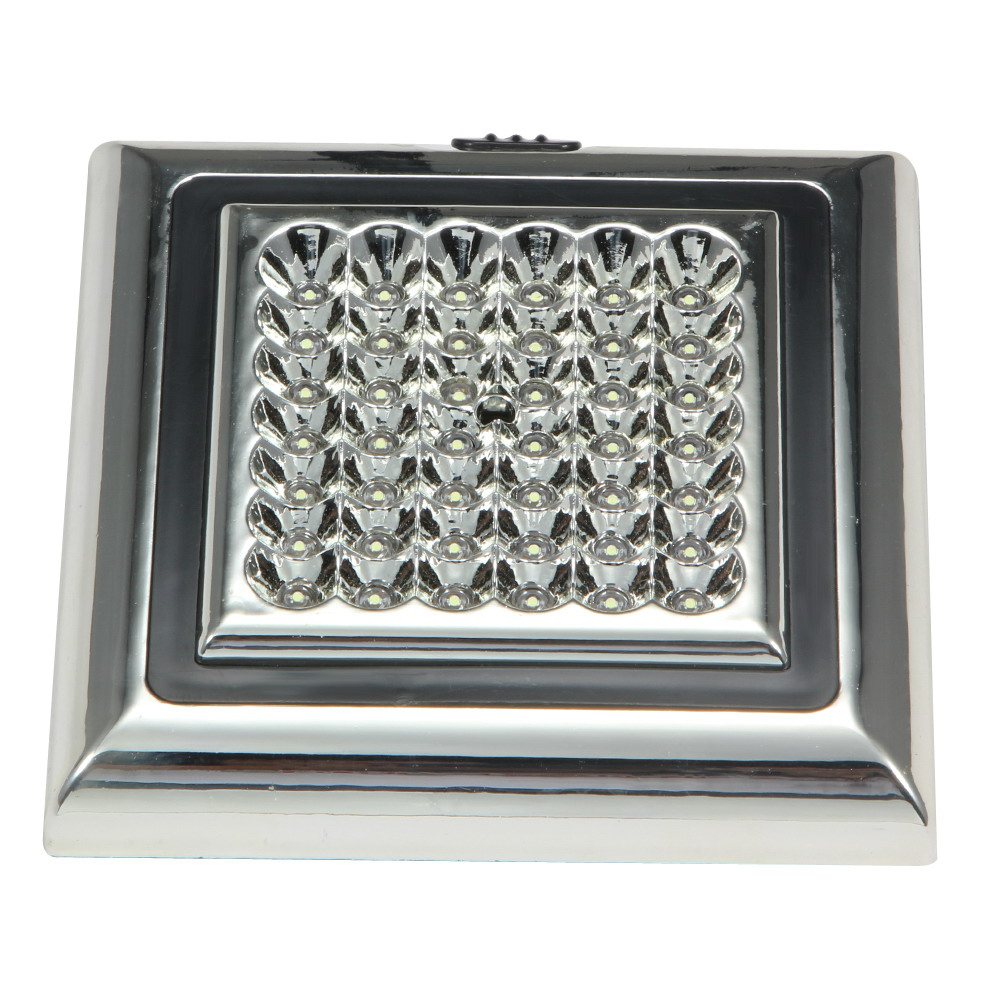 42 LED Automotive Indoor Roof Ceiling Lamp Vehicle Interior Decor Square Dome Light Panel for Automobiles 12V Car-styling White car led spotlight cree automotive short animated film spotlights roof lighting roof lamp dc10 40v