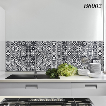 Waterproof Kitchen Wall Stickers High Temperature Anti-Oil Paste  Self-Adhesive Foil Waterproof Bathroom Wallpaper Home Decor