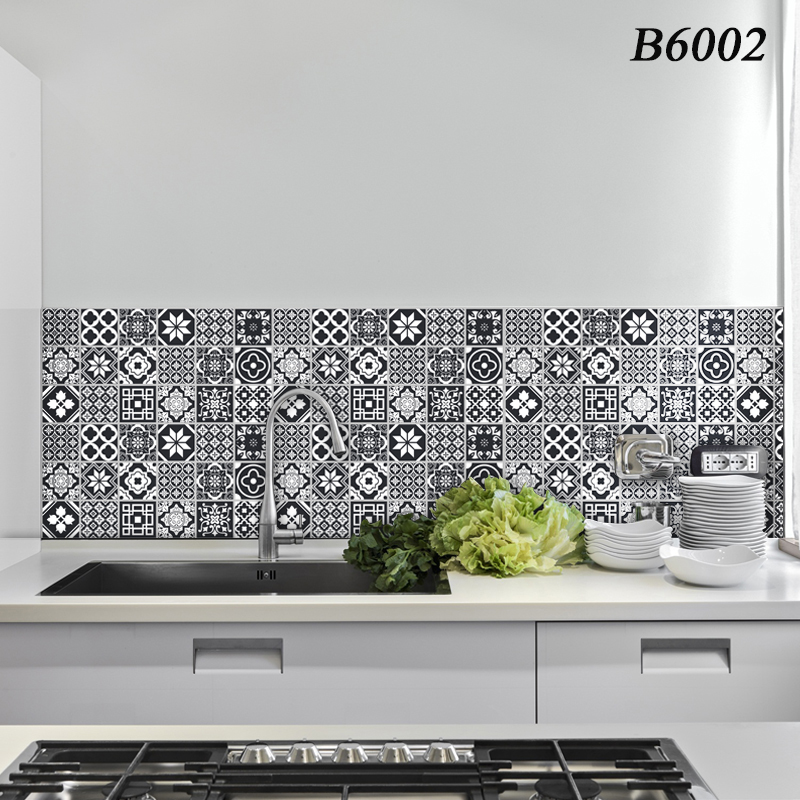 kitchen Wall Stickers High temperature Anti-oil paste kitchen wallpaper Self-adhesive foil waterproof bathroom wall stickers(China)