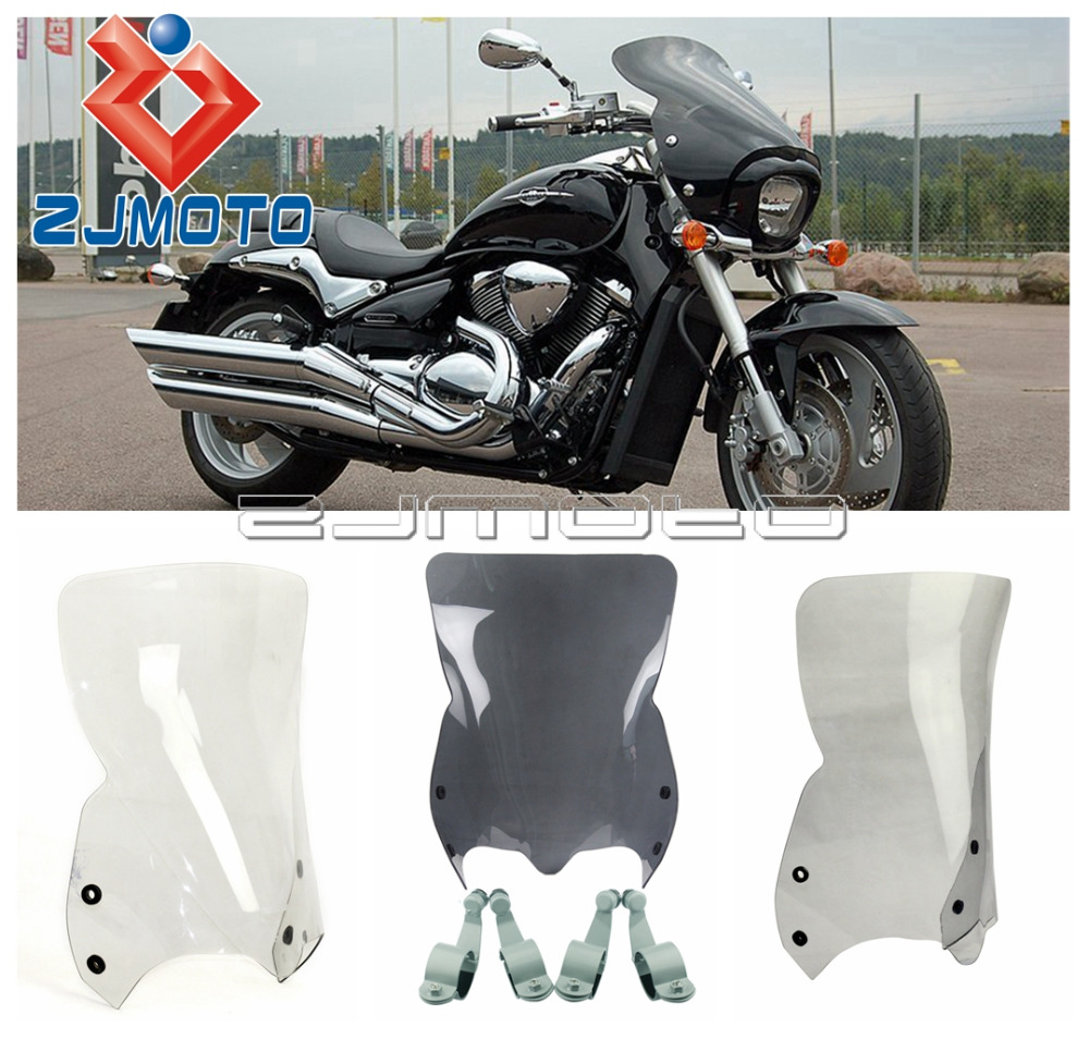 US $95 54 8% OFF Motorcycle Front Windshield For Suzuki Boulevard M109R  Windshield Cruiser Windscreen 06 16-in Windscreens & Wind Deflectors from