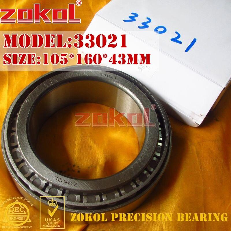 ZOKOL bearing 33021 3007121E Tapered Roller Bearing 105*160*43mm zokol bearing 32915 2007915e tapered roller bearing 75 105 20mm