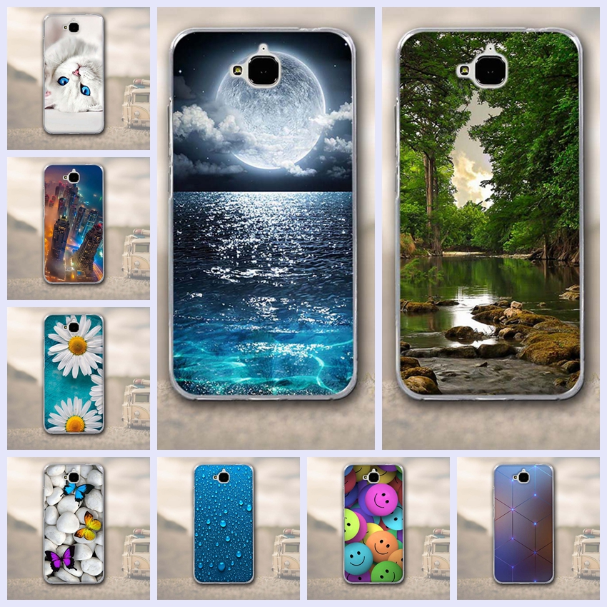 3D Soft silicone Case for Huawei Y6 Pro / Honor Play 5X / Enjoy 5 / Holly 2 Plus phone Case Cover For Huawei Honor 4C pro fundas