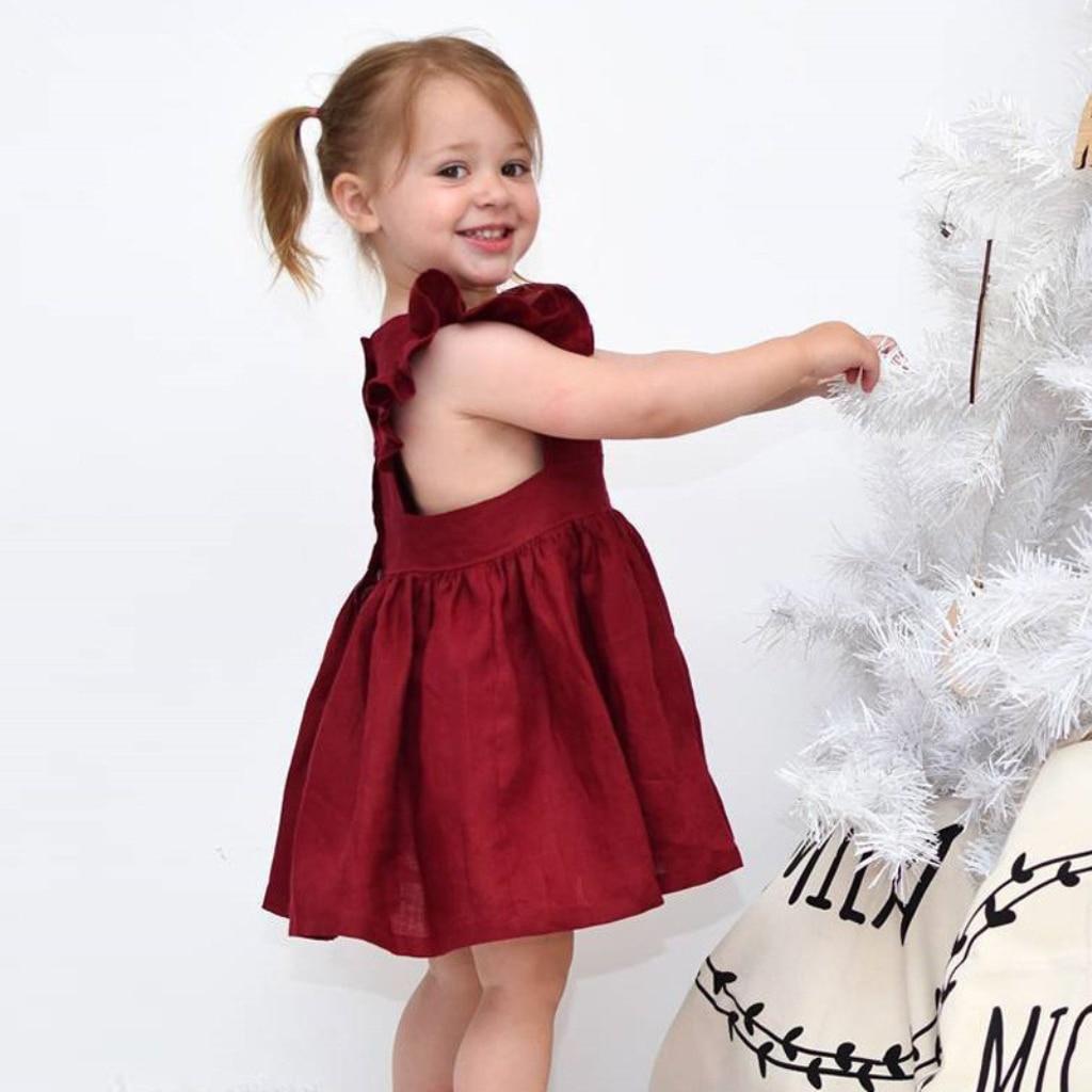 Mother & Kids Dresses 2018 New Summer Baby Girls Printing Star Children Dress Sleeveless Kids Crew Neck Mesh Sequins Boutique Princess Dresses High Safety