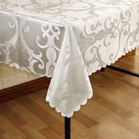 All Size Jacquard Tablecloth Tableclothes Rectangular Round Wedding Party Hotel Decorations Decor