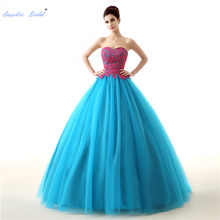 Sapphire Nupcial do Querido Vestido de Baile Quinceanera Vestidos De 15 Años Rendas Doce 16 Vestidos Formal Vestido de Festa Vestido