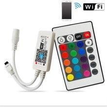 DC12V Mini Wifi RGB/RGBW Led Controller + IR 24 Key Remote Controller for RGB / RGBW LED Strip