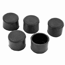 Furniture Chair Table 35mm Inner Dia Round Rubber Foot Covers 5 Pcs(China)