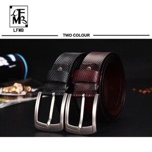 Image 3 - [LFMB] Gürtel Männer Echtes Leder Designer Gürtel Männer Hohe Qualität Luxus Männlichen Strap Cinturones Hombre Kostenloser Versand