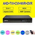 XMeye Hi3531A H264+ 4MP 16CH 16 Channel 6 in 1 Hybrid Coaxial WIFI TVi CVI NVR AHD CCTV DVR Surveillance Video Recoder