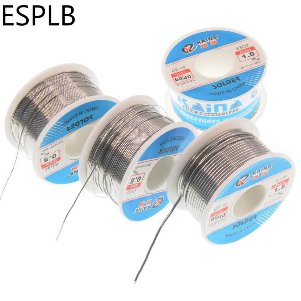 ESPLB CF-10 60/40 솔더 와이어 주석 0.5/0.6/0.8/1.0/1.2/1.5/2.0mm 리드 롤 클린 로진 용접 코어 납땜 와이어 플럭스 릴 튜브