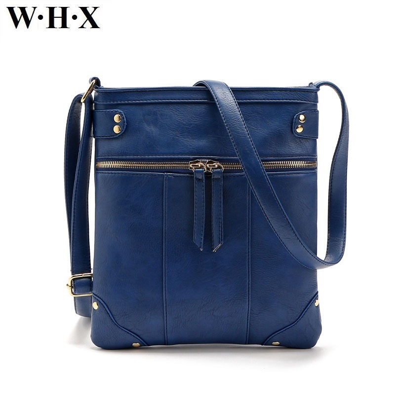 WHX New Style Fashion PU Leather Blue Handbag For Women Female Messenger Bag Bag Women's Cross body Bags Lady Girls Mini Purse