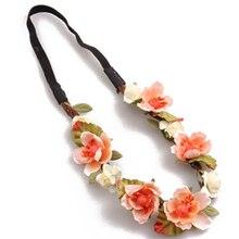Новый цветок boho цветочные повязка гирлянда фестиваль свадебные hairband (orange)