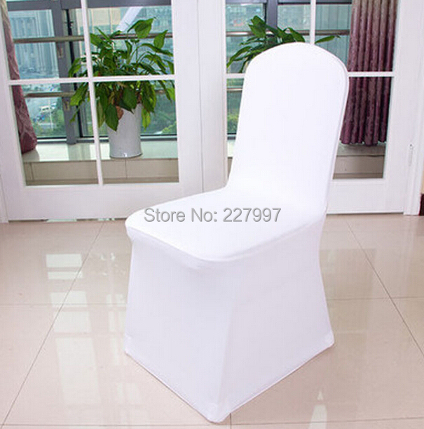 Folding Chair Covers For Wedding Outdoor Garden Factory Price 200pcs Universal Polyester Spandex Weddings Banquet Hotel Decoration White