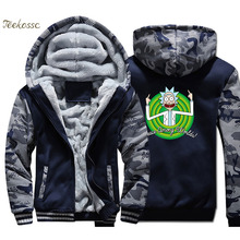 Rick and Morty Hoodie Men Peace Among Worlds Hooded Sweatshirt Coat 2018 Winter Fleece Thick Funny Print Jacket Brand Streetwear