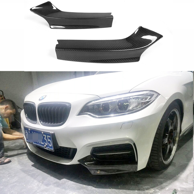 Carbon Fiber Racing Front Splitters Lips For Bmw 2 Series M235i M240i F22 M Sport Coupe Convertible 2017