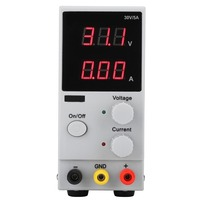 LW K305D DC Power Supply 0 30V 0 5A Adjustable Digital Display Switching Power Source AC 220V AU Plug with Power Cable Kit
