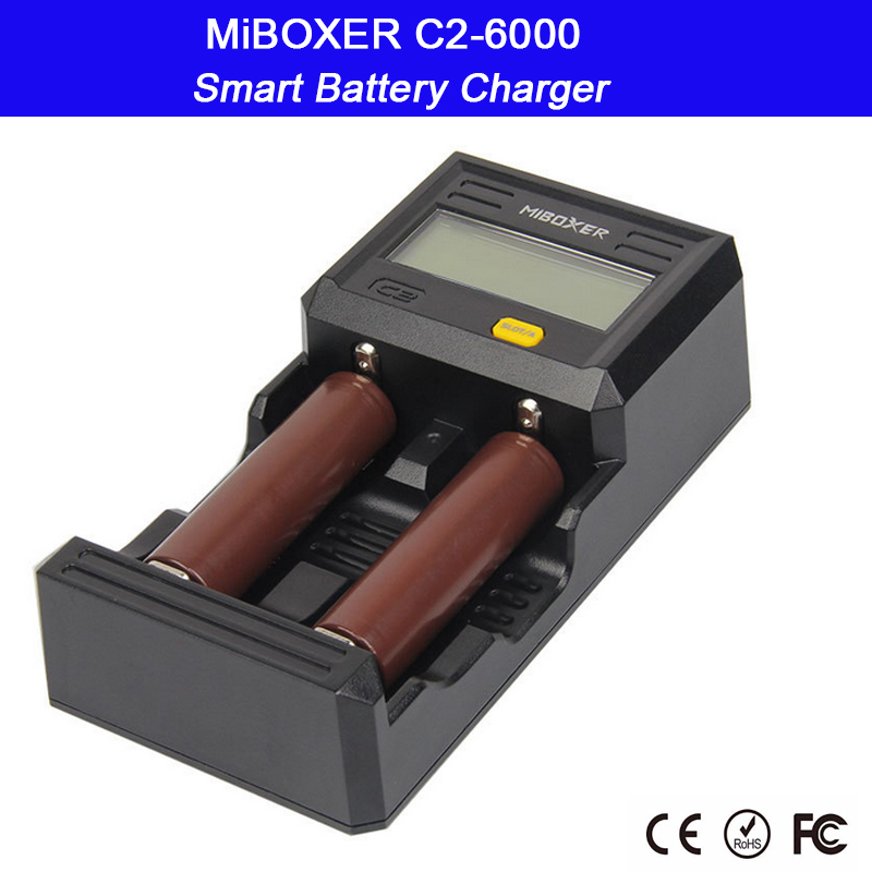 2 Slots LCD Screen Smart Battery Charger for Li-ion/Ni-MH/Ni-Cd 18650 14500 26650 AAA AA battery;Miboxer C2-6000 цена