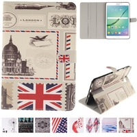 For Galaxy Tab S2 8 0 Case Fashion Design Pattern Stand Cover For Samsung Galaxy Tab