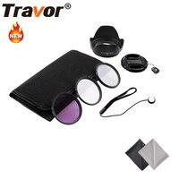 Travor 49MM 52MM 55MM 58MM 62MM 67MM 72MM 77MM UV Lens Filter Accessory Kit Tulip Lens