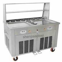 Коммерческий Жареный Лед Крем машина Making Roll мороженое машина для плавления льда машина для приготовления жареного йогурта двойной горшки 220 v 2800 w 1 шт