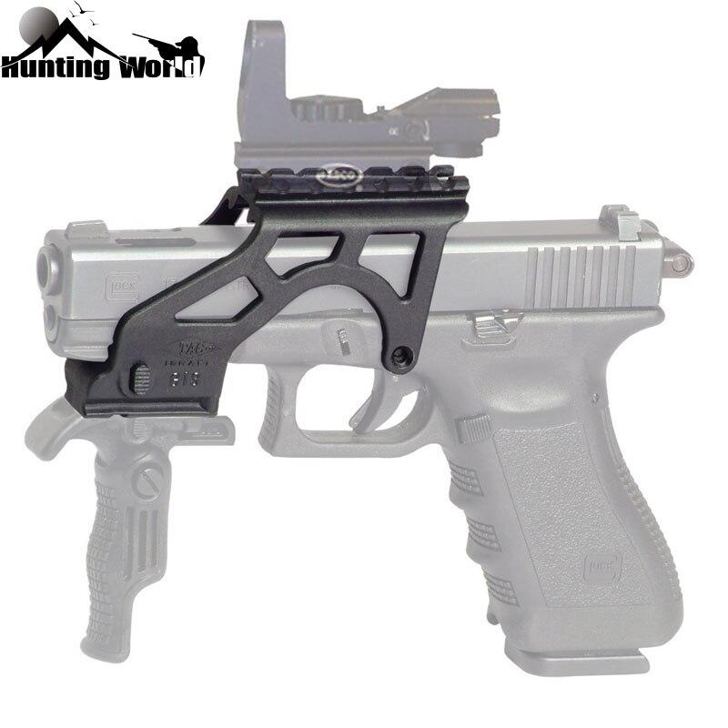 US $10 96 20% OFF| Tactical Light Weight Polymer Flashlight Scope Mount  with Picatinny For Glock Handgun Pistol 17 19 20 21 22 23 34 Gen 3 & 4-in
