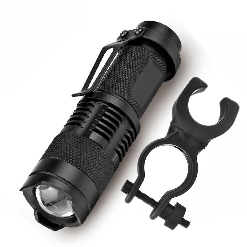 Led Lighting Z20 Bicycle Clip Flashlight 2000lm 3 Mode Bike Q5 Led Cycling Front Light Bike Lights Lamp Torch Waterproof Zoom Flashlight Clear-Cut Texture