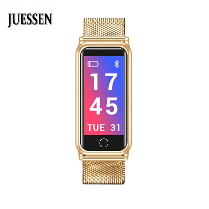 JUESSEN Y8 Smart Stainless Steel Bracelet Ons Men Fitness Bracelet for Measuring Pressure Key Finder PK Xaomi Mi Band 2