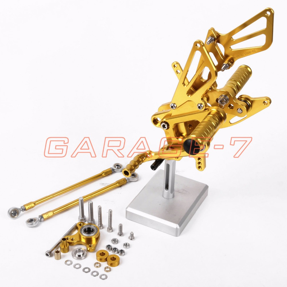 Hot Sale Motorcycle Parts Golden CNC Rearsets Foot Pegs Rear Set For Honda CBR600RR 2007-2014 2013 2012 2011 2010 2009 2008 2007