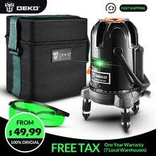 Лазерный нивелир DEKO LL57GB, высокоточный светильник Nivel a Laser 360 Graus 3D, уличный Нивелир, тканевый бокс 5 линий, 6 точек