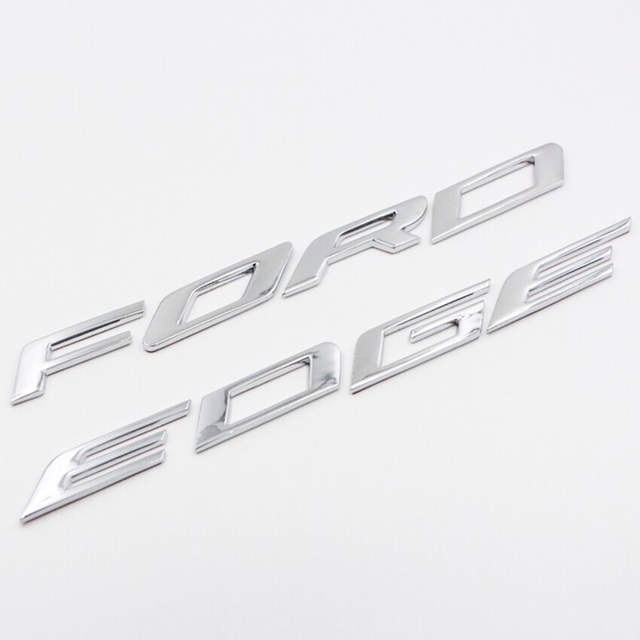 Placeholder For   Ford Edge Accessories Car Metal Chrome Bonnet Hood D Logo Alphabet